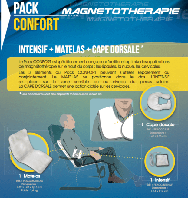 Description Pack Confort Champs magnétiques pulsés